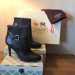 Coach Messina Black Ankle Boots